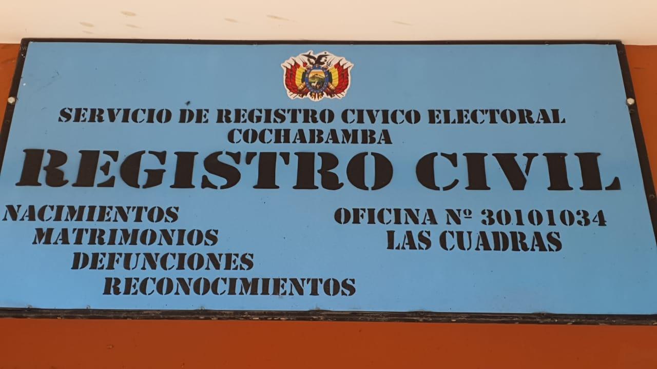 OFICIALÍA DE REGISTRO CIVIL 30101034